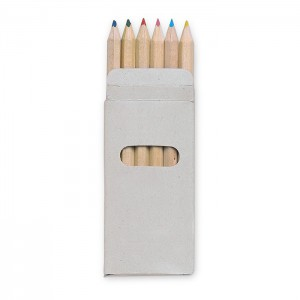 6 coloured pencils in box (KC2478-99)