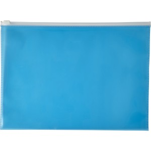 A4 Transparent PVC document folder, blue (7901-05)