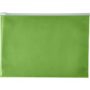 A4 Transparent PVC document folder, green (7901-04)