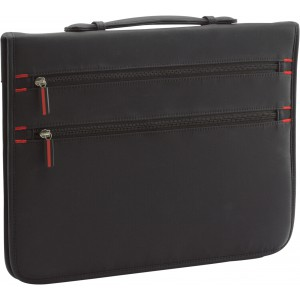 A4 Zipped nylon portfolio, Black (7215-01)