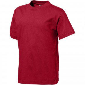 Ace short sleeve kids T-shirt, red, 104 (33S0528)