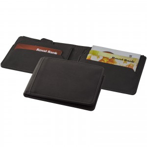 Adventurer RFID wallet, solid black, 12 x 9 x 1,5 cm (13003700)