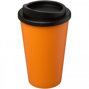 Americano<sup>®</sup> 350 ml insulated tumbler, Orange, solid black (21000122)