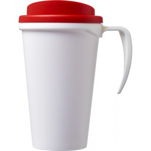 Americano<sup>®</sup> Grande 350 ml insulated mug, White,Red (21000403)