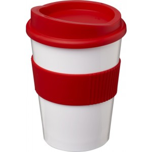 Americano<sup>®</sup> medio 300 ml tumbler with grip, White,Red (21000810)