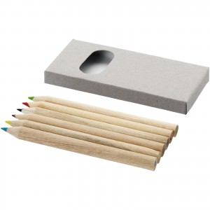 Ayola 6-piece coloured pencil set, Brown (10621900)