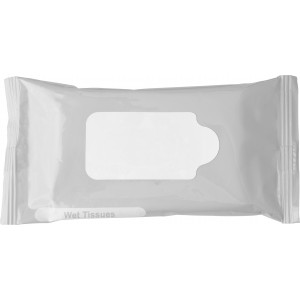 Bag with 10 wet tissues., silver (6080-32)