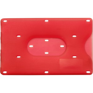 Bank card holder for one card, Red (8358-08)
