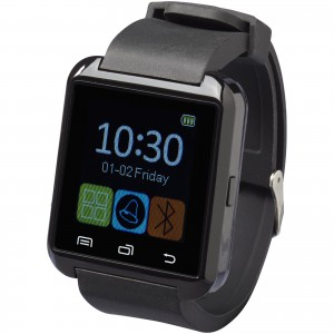 Brains Bluetooth<sup>®</sup> smartwatch with LCD touchscreen, solid black (12371000)