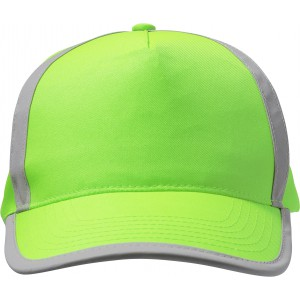 Cap with five panels with reflective lines, fluor green (7489-368)