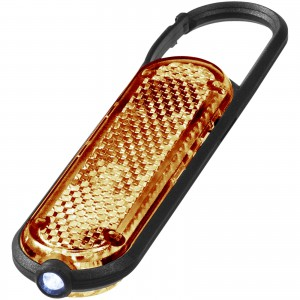 Ceres LED reflector light with carabiner, Orange (10421604)