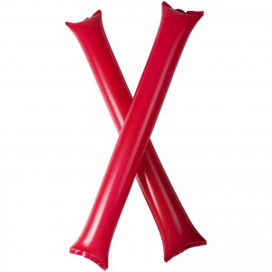 Cheer 2-piece inflatable cheering sticks, Red (10250604)