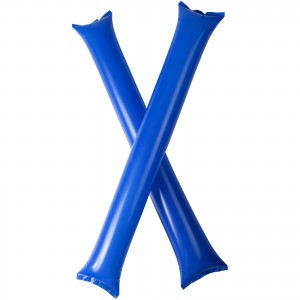 Cheer 2-piece inflatable cheering sticks, Royal blue (10250605)