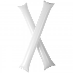 Cheer 2-piece inflatable cheering sticks, White (10250602)
