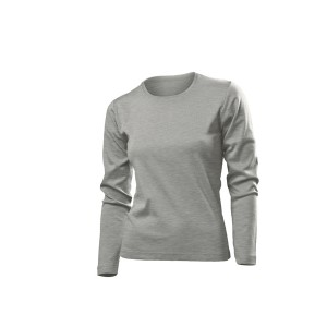 Comfort-T Long Sleeve Long Sleeve T-Shirt, Grey Heather, S (ST2140.GYH)