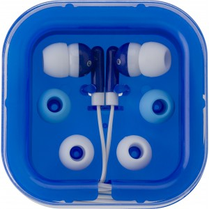 Earphones with two spare sets of buds, Blue (2289-05)