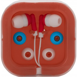 Earphones with two spare sets of buds, Red (2289-08)