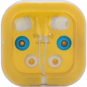 Earphones with two spare sets of buds, Yellow (2289-06)