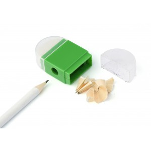 Eraser with pencil sharpener., Pale green (6458-29)
