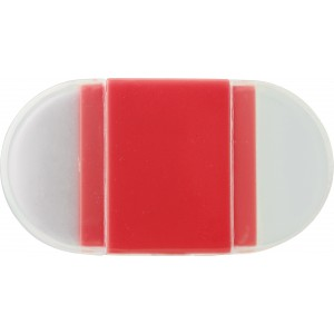 Eraser with pencil sharpener., Red (6458-08)