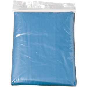 Foldable translucent poncho, light blue (9504-18CD)