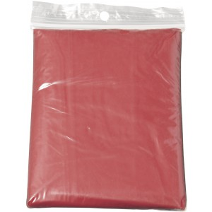 Foldable translucent poncho, red (9504-08CD)