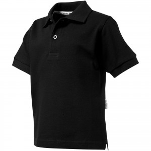 Forehand short sleeve kids polo, solid black (33S1399)