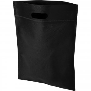 Freedom exhibition tote bag with heat seal, solid black (12018500)