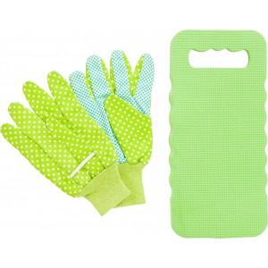 Garden set, including foam knee cushion and two gloves., light green (2138-29)