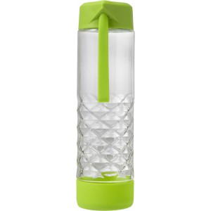 Glass drinking bottle (590ml), Light green (7487-19)