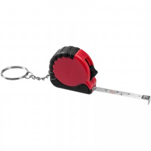 Habana 1 metre measuring tape with keychain, Red (10421101)