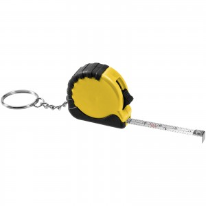 Habana 1 metre measuring tape with keychain, Yellow (10421103)