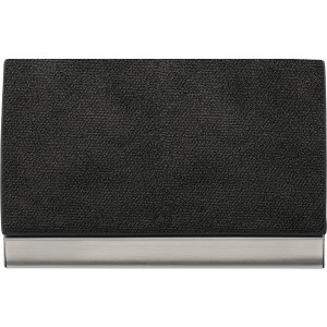 Horizontal, curved business card holder, black (7229-01)
