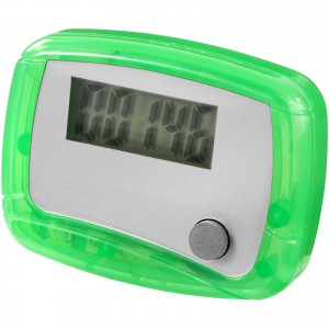 In shape pedometer, green, 4,5 x 3,5 x 2 cm (10201307)
