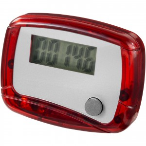 In shape pedometer, red, 4,5 x 3,5 x 2 cm (10201305)