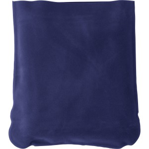 Inflatable velour travel cushion, Blue ()