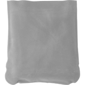 Inflatable velour travel cushion, Light grey (9651-27)