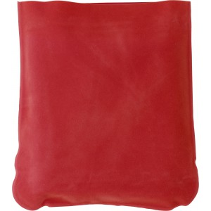Inflatable velour travel cushion, Red ()
