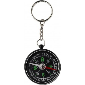 Key holder with compass, black (2544-01CD)