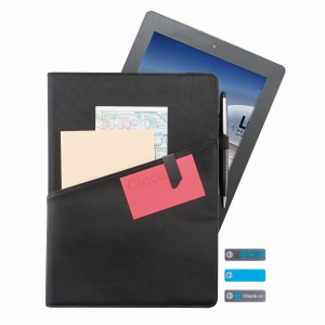 Komo 9-10 universal leather portfolio, black (P320.811)