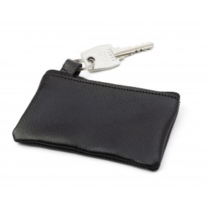 Leather key wallet, Black (2762-01)