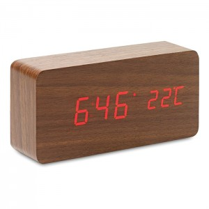 LED clock in MDF (MO8620-40)