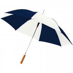Lisa 23 auto open umbrella with wooden handle, Navy,White (10901711)