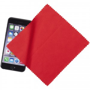 Microfiber Cleaning Cloth In Case, red, 15 x 15 cm (13424302)