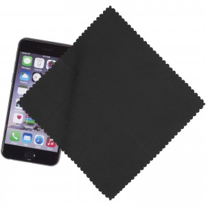 Microfiber Cleaning Cloth In Case, solid black, 15 x 15 cm (13424300)