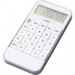 Mobile phone shaped ten digit calculator, white (Calculators)