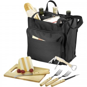 Modesto picnic carrier, solid black, 27 x 15,4 x 27 cm (13000800)