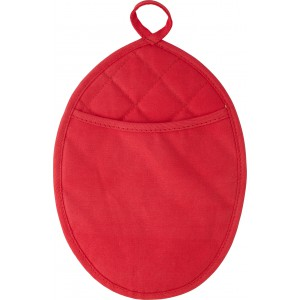 Neoprene oval shaped oven glove., Red (6643-08)