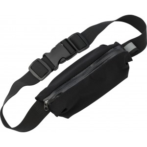 Neoprene, zippered, waist bag, Black (1838-01)