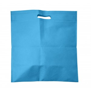 Nonwoven carry/document bag, light blue (7858-18)